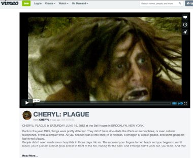 Video made by Cheryl at Cylinders: 'Plague'.