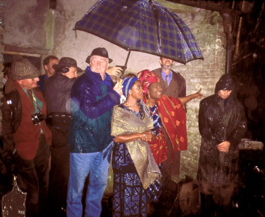 In the Merz Barn: attendees at the Schwitters conference visiting the Barn, 1999. This became the first of the annual autumn visits that eventually transformed into the 'KS' Autumn Schools.