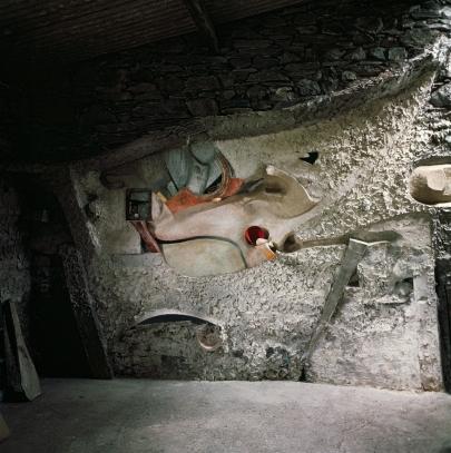 Kurt Schwitters: The Merz Barn installation. Photo Ernst Schwitters. Copyright Kurt und Ernst Schwitters Archiv, Sprengel Museum, Hanover