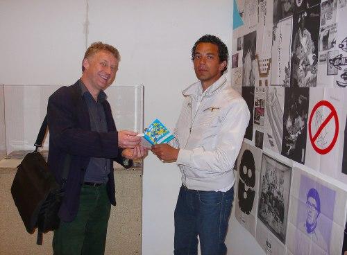 Adrian Glew, Tate Archivist, meets Adrian Notz of the Café Voltaire, Zurich.
