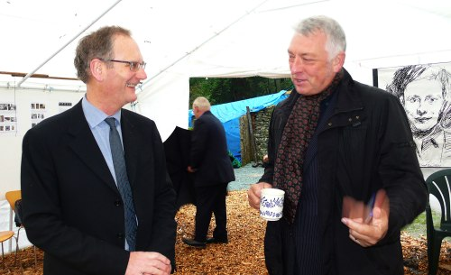 Howard Hull, Director of Brantwood, meets Jim Tough, CEO Arts Council North West, at Cylinders, 1.10.10.