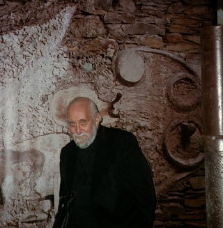 Jerome Rothenberg in the Merz Barn