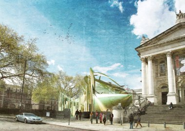 Architect Natasha Reid: Proposal for a Merz Pavilion outside Tate Britain to accompany the 'Schwitters in England' Exhibition.