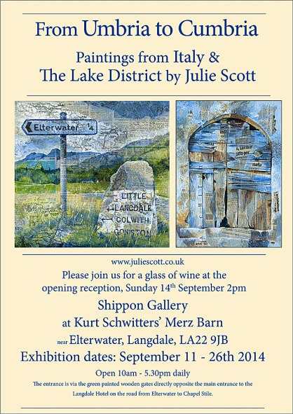 Poster for Julie Scott's Exhibition