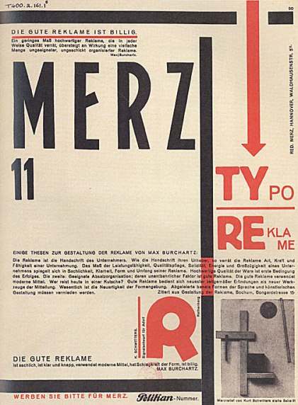Examples of Schwitters' typographical inventiveness.