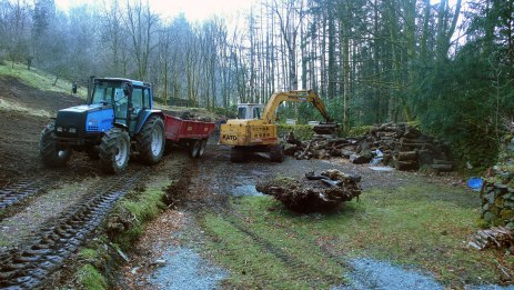 Grading the landscape, March 2009
