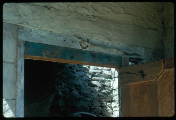 Schwitters' Snake Stick above the Merz Barn door. Photo courtesy of The Hatton Gallery, Newcastle.