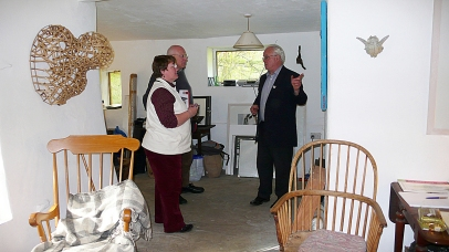 The German Consul and his wife inside the newly renovated Ivy Cottage (re-named Jack's Cottage), 7.10.2010