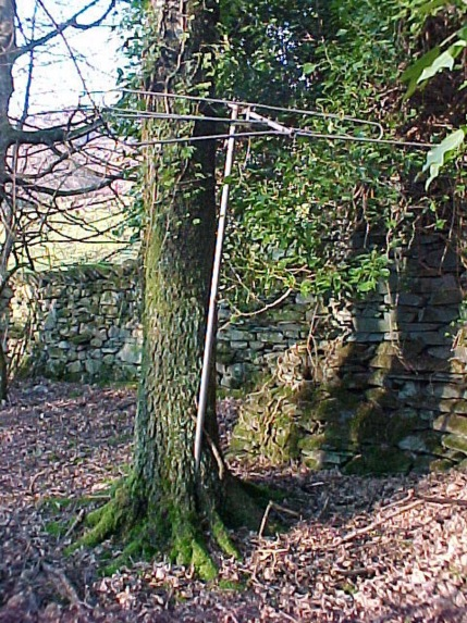 The 'Merz Antenna' outside Ivy Cottage