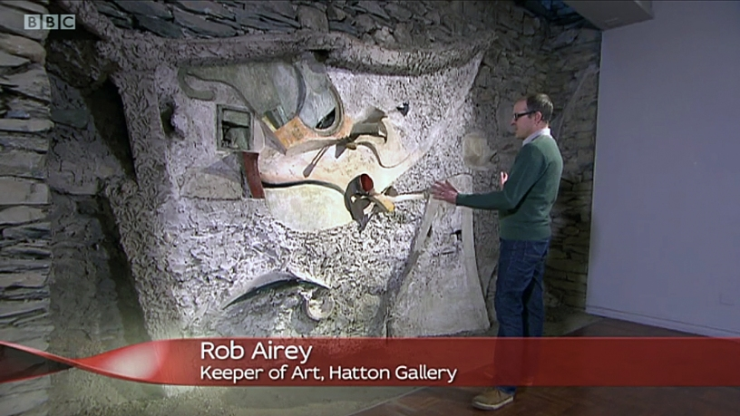 Curator Rob Airey in the Hatton Gallery