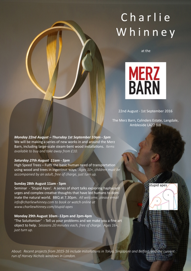 CW at Merz Barn Poster A4