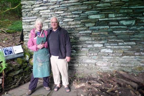 Jill:Ian and ent. kunst wall
